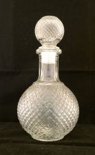 Large Glass Bottle With Glass Stopper