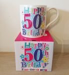 50th Birthday Mug - Female - Happy 50th Birthday