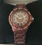 ETON Ladies Watch Metal Brown & Diamante - 3052L
