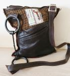 Twisted Wire Snaffle Bit Brown Tweed & Leather Handbag - Joey D