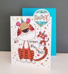 Birthday Card - Daddy Tiger - Glitter Die-cut - Cherry on Top