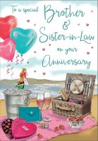 Wedding Anniversary Card - Brother & Sister in Law