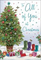 Christmas Card - To All of You - Tree & Wellies - Regal
