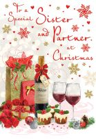 Christmas Card - Sister & Partner Wine - Regal