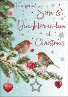 Christmas Card - Son & Daughter in Law Robin - Regal