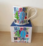40th Birthday Mug - Male - Happy 40th Birthday