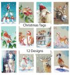 Christmas Gift Tag - 5 Tags - 12 Designs - Wildlife Ling Design