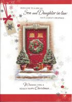 Son & Daughter in Law Red Front Door - Christmas Card