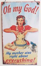 My Mother Retro Metal Kitchen Sign