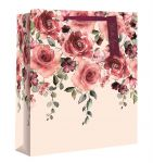 Roses Pink Gift Bag - Medium - Gift Envy - Valentines Mothers Day