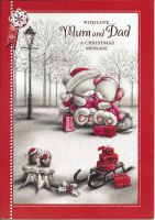 Mum & Dad Christmas Message - Christmas Card