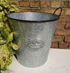 Zinc Metal Extra Large Tall Garden Planter Badge & Ear Handles