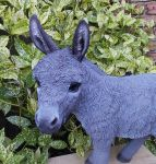 Donkey - Large 50cm Grey Standing Lifelike Garden Ornament - Indoor or Outdoor - Real Life Farm
