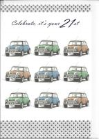 21st Birthday Card - Mini Cooper Car