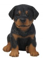 Rottweiler Puppy Dog - Lifelike Ornament Gift - Indoor or Outdoor - Pet Pals