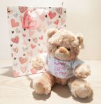 Bear Soft Toy - Mummy I Love You - Mothers Day - Free Gift Bag