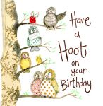 Birthday Card - Owl Have a Hoot - Sparkle - Alex Clark