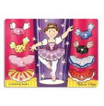 Melissa & Doug Ballerina Wooden Peg Puzzle Dress Up