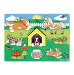 Melissa & Doug Pets Animals Wooden Peg Puzzle