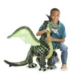 Giant Fantasy Winged Magical Dragon Plush Soft Toy - Melissa & Doug