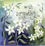 Greetings Card - With Sympathy White Lillies - Alex Clark