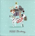 Luxury Charity Christmas Cards Pack - 8 Cards Xmas Dog Tree - Shooting Star