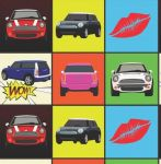 Mini Car Pop Art Wrapping Paper 2 Sheets & Tags - Arty Penguin