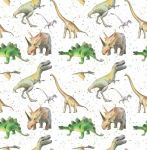 Dinosaur Wrapping Paper 2 Sheets & 2 Tags - Arty Penguin