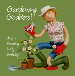 Birthday Card - Funny Humour Gardener Gardening Goddess One Lump Or Two