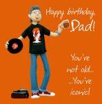Birthday Card - Dad Iconic - Male Funny One Lump Or Two