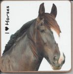 Black Horse Coaster - I love Horses