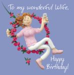 Birthday Card - Wonderful Wife - Female Funny One Lump Or Two