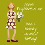 Birthday Card - Delightful Daughter-in-Law - Female Funny One Lump Or Two