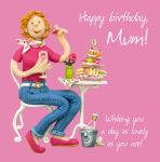 Birthday Card - Mum Afternoon Tea - Female Funny One Lump Or Two