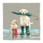 Greetings Card - Open - Golden Retriever Dog - The Wildlife Ling Design