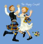 Wedding Day Card - Happy Couple Scottish - Funny One Lump Or Two