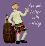 Birthday Card - Male Age Better With Whisky Funny One Lump Or Two