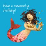 Birthday Card - Female Funny Humour Mermaid Mermazing One Lump Or Two