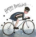 Birthday Card - Cycling Cyclist Bike - Sparkle - Alex Clark