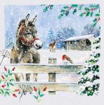Luxury Boxed Christmas Cards - 10 Cards Donkey Design - Special Time of Year - Ling Design