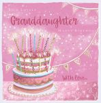 Birthday Card - Granddaughter - Cake Joy - Glitter - Ling Design