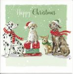 Luxury Christmas Cards Pack - 12 Cards 3 Designs - Cats & Dogs Pets - Ling Design