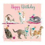 Birthday Card - Cat Design Purrfect - The Wildlife Ling Design