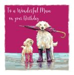 Birthday Card - Mum - Golden Retriever Dog - The Wildlife Ling Design