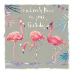 Birthday Card - Niece - Flamingo - The Wildlife Ling Design
