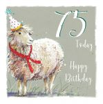 75th Birthday Card - Sheep Design - The Wildlife Ling Design