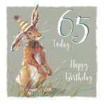 65th Birthday Card - Rabbit Design - The Wildlife Ling Design