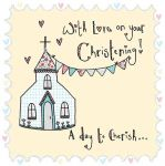 Christening Card - Day to Cherish Church - Saffron Ling Design