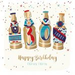 30th Birthday Card - Male Beer - Jupiter - Talking Pictures
