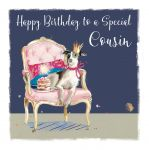 Birthday Card - Cousin - Dog - The Wildlife Ling Design